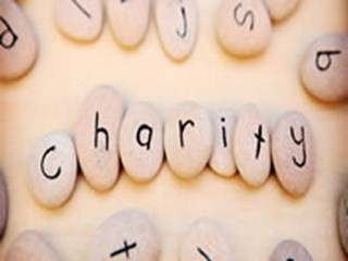 charity made up of stones
