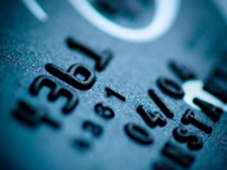 close up of numbers on bank card