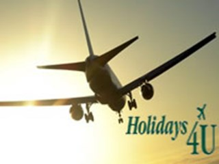 plane with holidays for you logo