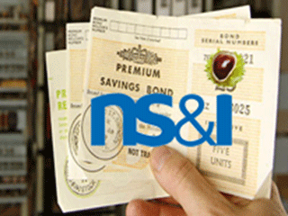 ns&i logo over premium savings bond