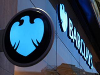 Barclays bank sign and logo