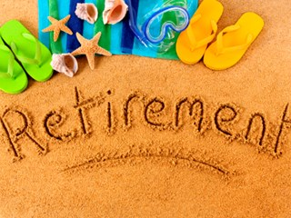 retirement written in the sand