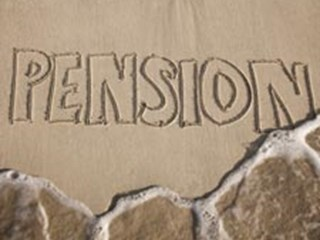 pension written in the sand