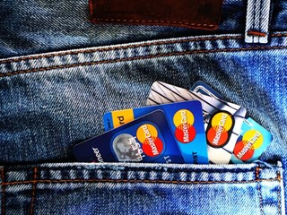 bank cards in back pocket